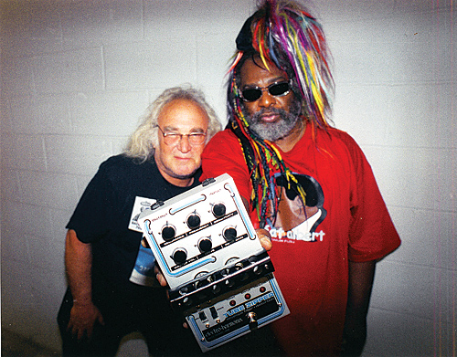 Mike Matthews with George Clinton.