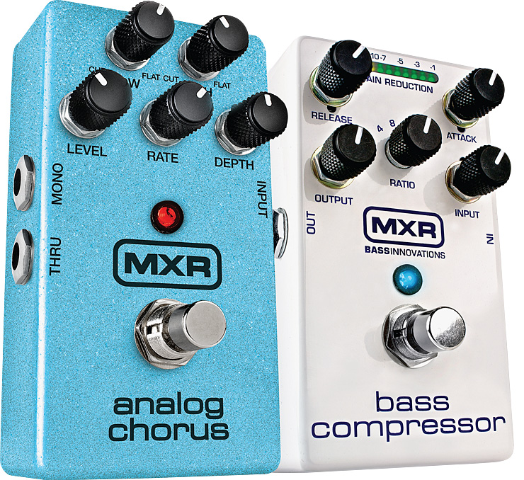 The MXR M234 Analog Chorus and M87 Bass Compressor