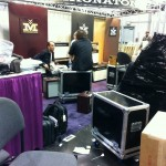 A pre-show/behind-the-scenes look as the Magnatone Amps booth was being assembled.