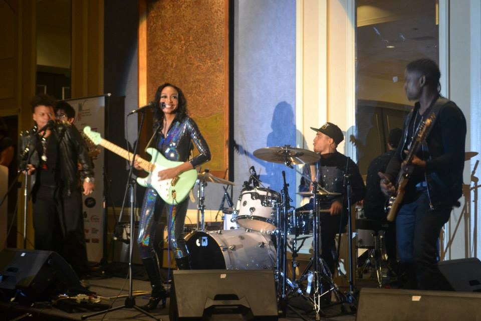 Malina Moye and her band rocked the She Rocks Awards.