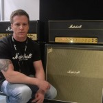 Steven Smith, a demonstrator for Marshall Amplification in the U.K., shows off one of the new hand-wired amps.