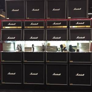 Amped up. #vintageguitar #NAMM2015 #Marshall #amp #NAMM15 #NAMMshow #NAMM #guitargear #ampedup — in Anaheim, California.