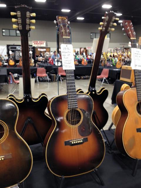A 1936 Martin 000-28 courtesy of Strings West at the Guitarlington Guitar Show in, Arlington TX.