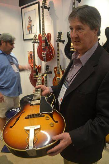 Mike Voltz in the Gibson booth.