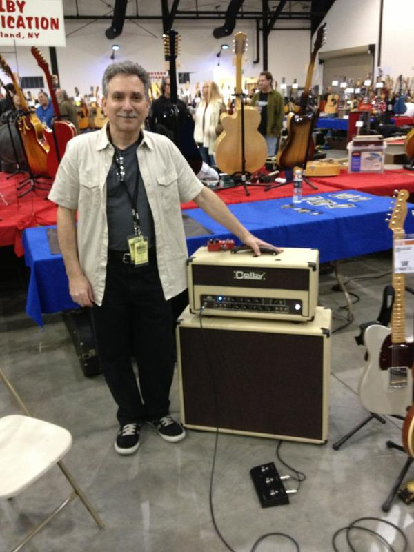 SoCal World Guitar Show - Mitch Colby with the new Colby Amplification dtb head.