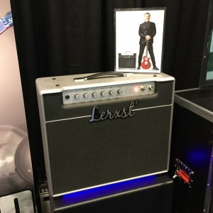 Now you can take home your own piece of RUSH, thanks to Mojotone; the Lerxst by Alex Lifeson is now available! #vintageguitar #NAMM2015 #NAMMshow #Lerxst #Mojotone — in Anaheim, California.