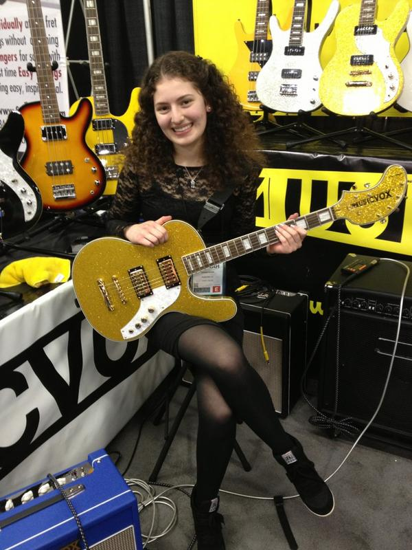 Musicvox&#039;s Hannah Eichen with a Spaceranger.