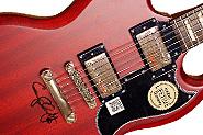 Gary Clark Jr. Epiphone G-400 Autographed Vintage Guitar magazine