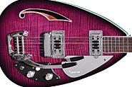 Phantom Guitars LTd Ed Teardrop Hollowbody 6 package