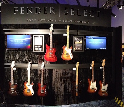 New additions to Fender's Selects instruments, which have figured tops, fancy finishes, figured/quarter-sawn maple necks with compound-radius fretboards, and specially voiced pickups.