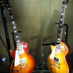 One each of two known '59 and '60 lefty 'bursts at the Heritage Auctions booth.