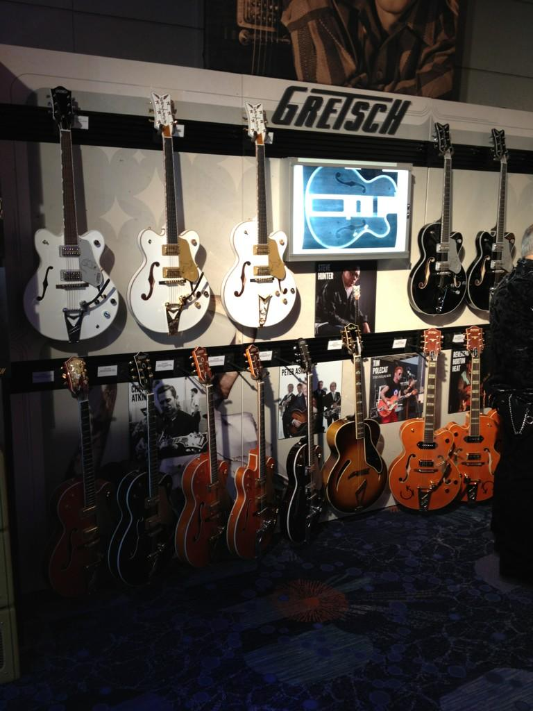 Opening night at the Fender booth at NAMM 2013-2.