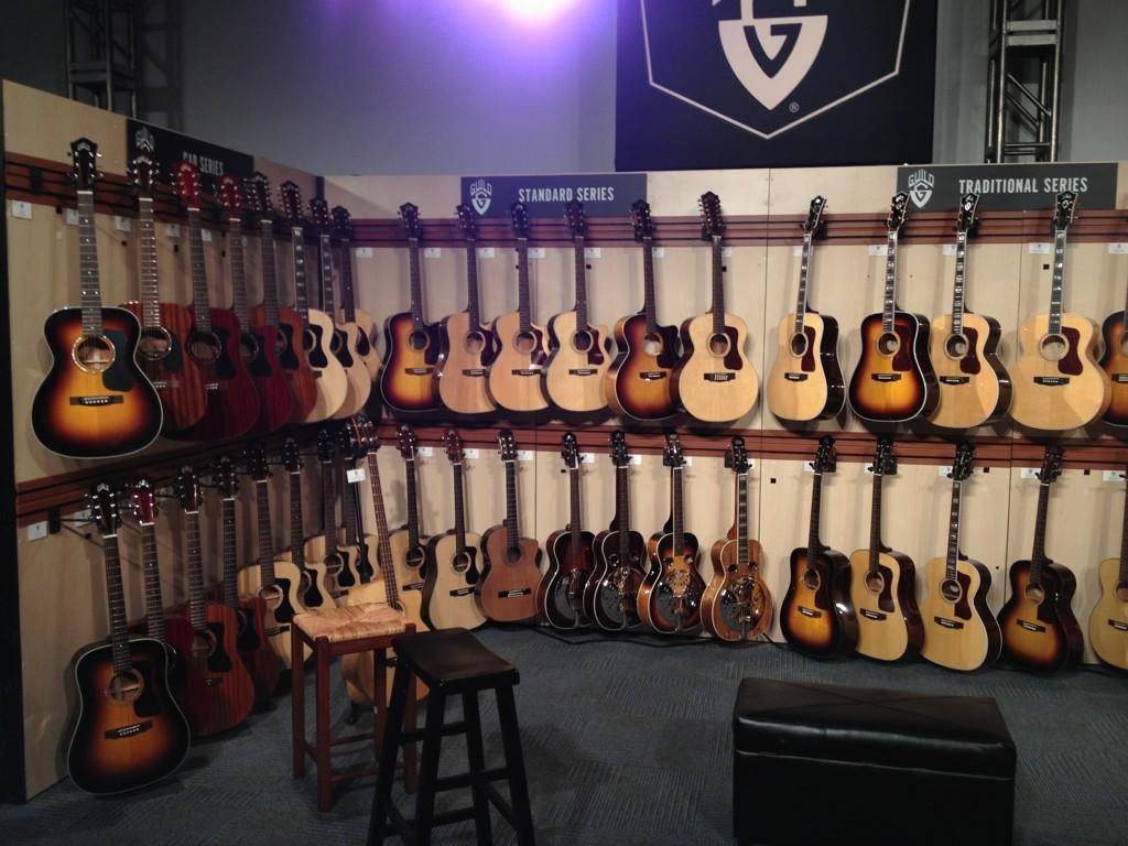 Opening night at the Fender booth at NAMM 2013.