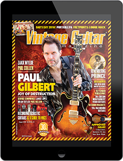 Check out the August 2016 digital edition of VG which features Paul Gilbert on the cover page.