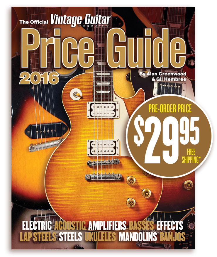 the Official Vintage Guitar magazine Price Guide 2016 Pre-Order