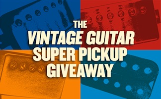 Vintage Guitar magazine super pickup Giveaway contest