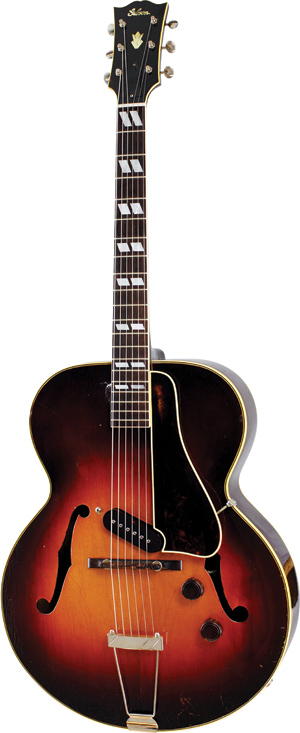 1943 second-version ES-300; note fully original ES-150 tailpiece, used due to a shortage of proper ES-300 units. ES-300: Lynn Wheelwright.