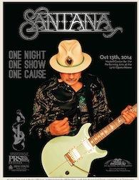 PRS Santana One Cause poster