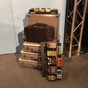 Big news from Pedaltrain at #NAMM2015, the company has reinvented its soft and hard cases for 2015! Take advantage of the new Pedaltrain Pro, now weighing 35% lighter! #guitargear #vintageguitar #NAMMshow #NAMM — in Anaheim, California.
