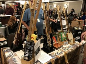 Lazy B Cigar Box Guitars at Jersey Shore Guitar Show.