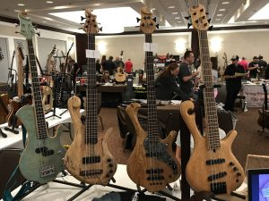 SM Basses booth at Jersey Shore Guitar Show