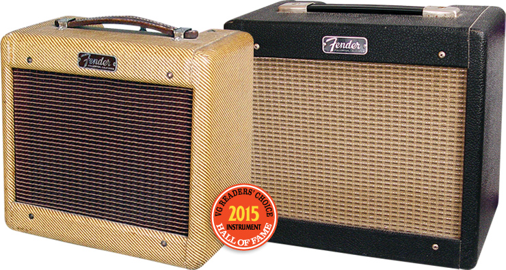(LEFT) Fender Champ 5E1 and a 5F1. Fender Champs courtesy of VG Archive. VG Readers' Choice Awards 2015