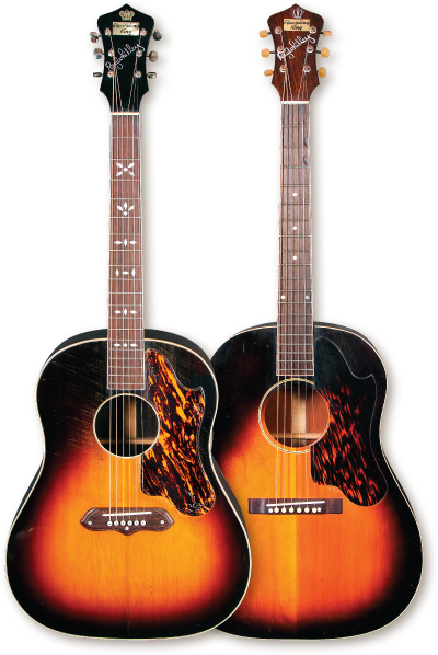 The Recording King Ray Whitley Model 1027 (left) and Model 1028.