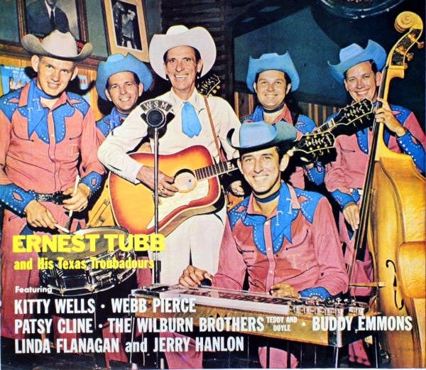 Midnight Jamboree LP - 1960. Leon is in the back row (second from the right) just above steel guitarist Buddy Emmons.