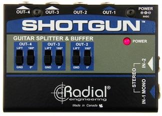 Radial Shotgun stereo amp driver