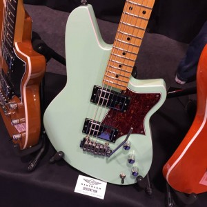 We think it was mint to be! The new Descent baritone #guitar from Reverend Guitars. Check it out in their #NAMM2015 booth today! #vintageguitar #NAMM15 #guitars #guitarlove #Reverend #reverendguitars — in Anaheim, California.