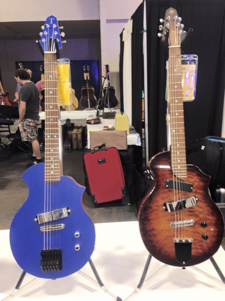 Final day at the Dallas International Guitar Festival. Here's a couple of nice Rick Turners for your viewing pleasure. Dig those horseshoe pickups.