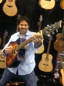 Mike Miltimore rockin' at Riversong Guitars.