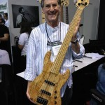 Roger Sadowsky with one of his Standard 5 basses.