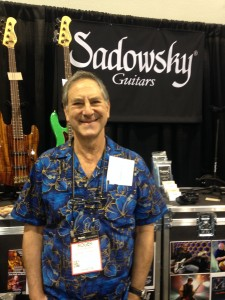 Roger Sadowsky takes a break from his busy booth to pose for a quick shot.
