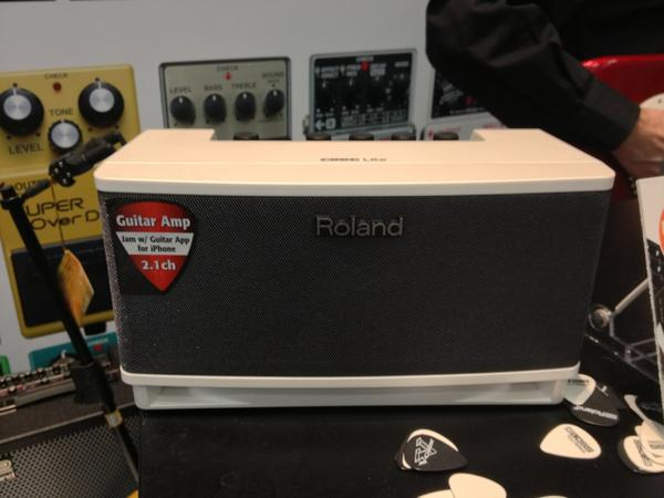 Roland Cube Amplifier.