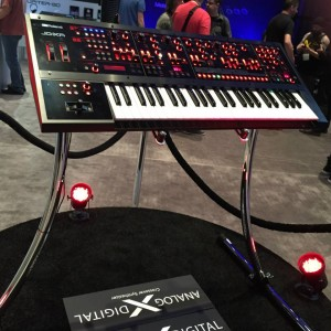 First look: The new #Roland JD-XA flagship hybrid analog synthesizer. This soon-to-be-released keyboard offers 4 independent analog monophonic voices, 4additional synth voices and 8 channels of step sequencing. #keyboard #NAMM2015 #vintageguitar #synthesizer #hybrid #NAMM — in Anaheim,