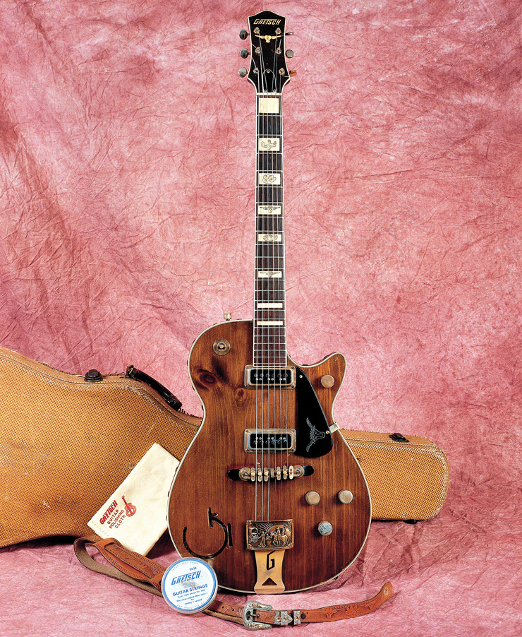 An early-'55 6130; note the non-engraved position marker at first fret.