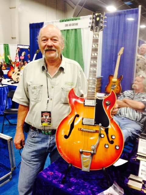 Rusty Bickford of Trem King with his '63 Barney Kessel.
