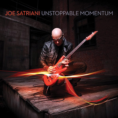 Satriani's 14th solo album is titled Unstoppable Momentum.
