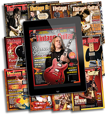 SAVE NOW GRAPHIC VINTAGE GUITAR MAGAZINE