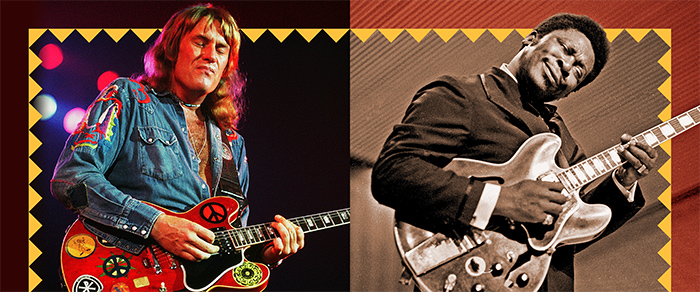 Alvin Lee (LEFT): Jim Summaria. B.B. King: Heinrich Klaffs.