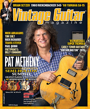 Vintage Guitar Feb 2016 Issue