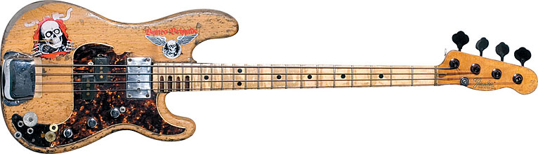 "Sheehan bought this this circa-'70 Fender Precision Bass he calls ""The Wife"""