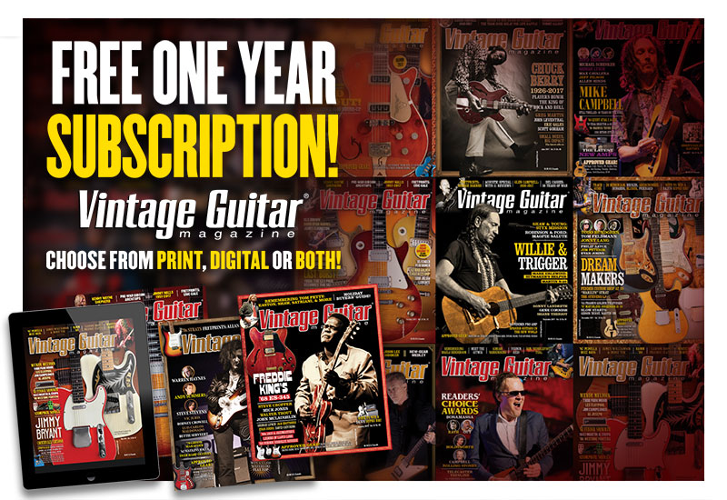 Guitar show subscription Vintage Guitar Magazine