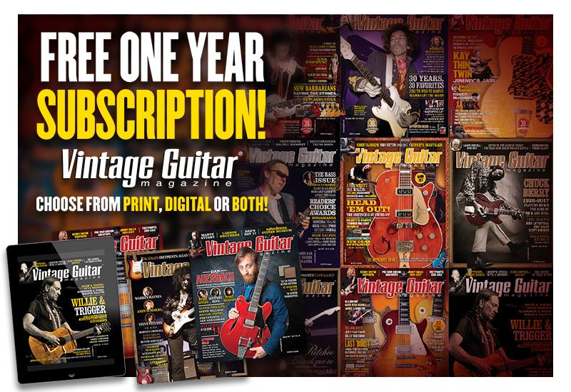 Guitar show subscription Vintage Guitar Magazine
