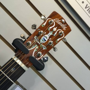 It's all in the details at #NAMM2015 for Saga Musical Instruments. Visit their #NAMMshow booth today! #VintageGuitar — in Anaheim, California.