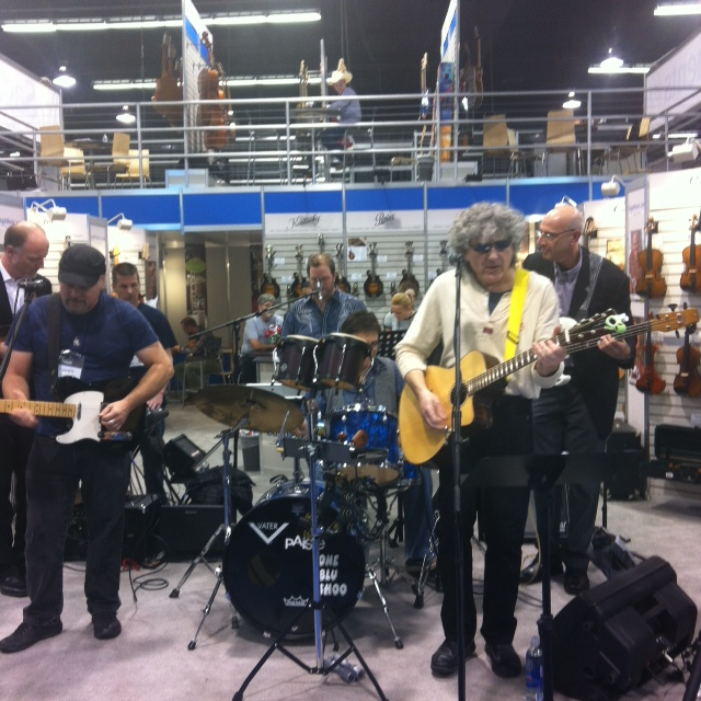 Jammin' at the SAGA booth.