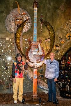 Statue honors Carlos Santana, PRS Guitars.
