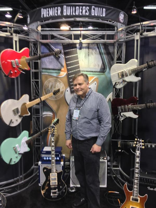 Saul Koll of Koll Guitars with Premier Builders Guild.
