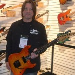 William Dunavant in the Schecter Guitar Research booth.